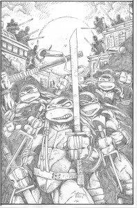 Eastman 30th Pencil TMNT Cover for Bisley