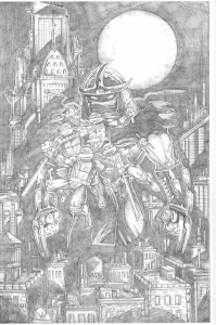 Eastman 30th Pencil TMNT Cover for Laird