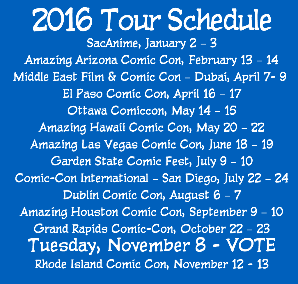 2016 Tour Schedule Updated – we're heading to Dubai