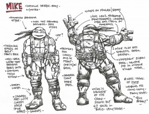 Costume design with notes