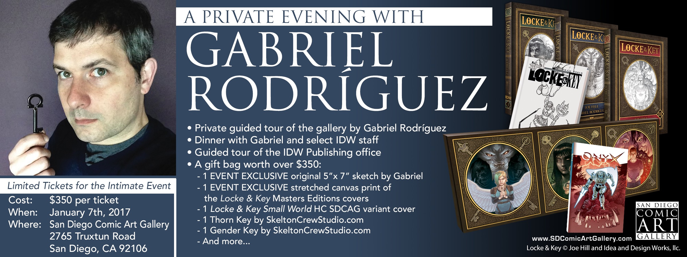 A Private Evening with Gabriel Rodriguez in January