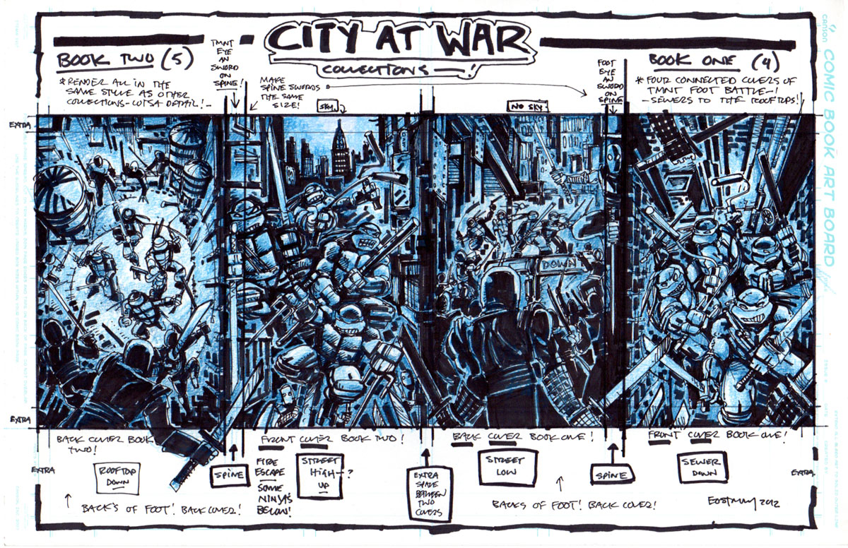 City At War 4 And 5 Cover Designs Kevin Eastman Studios