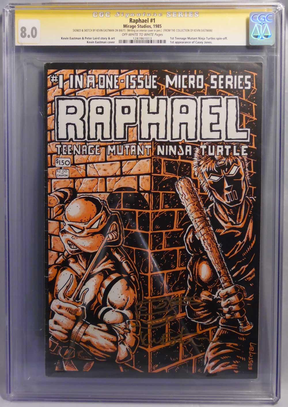 Tmnt Raphael 1 Cgc Graded 80 Kevin Eastman Studios