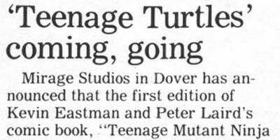 'Teenage Turtles' coming, going