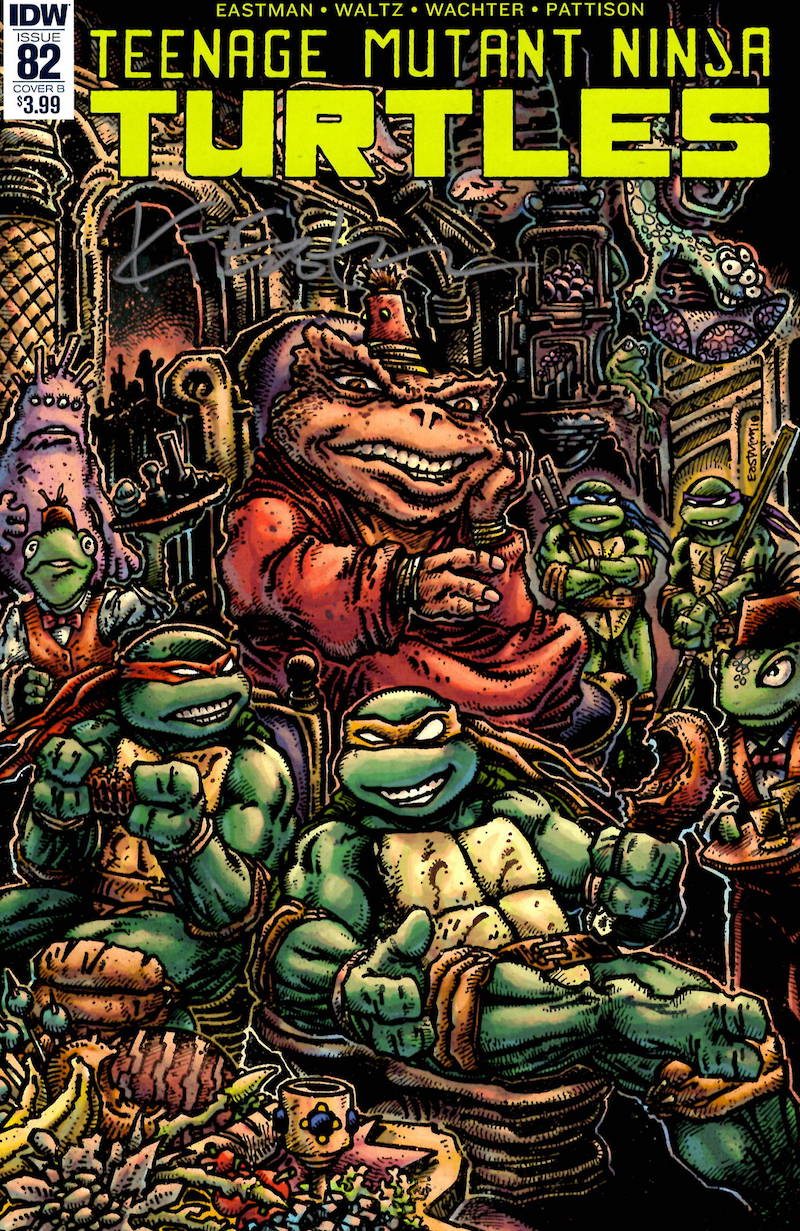 Tmnt 82 Cover Art And Signed Book Kevin Eastman Studios