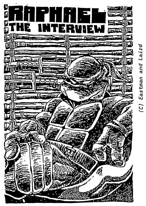 Interview with Raphael – Kevin Eastman Studios