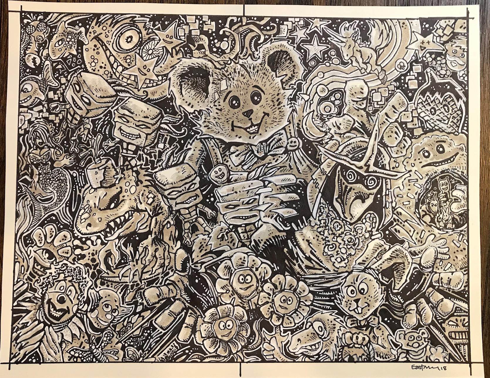 Shredder in Hell Original Artwork