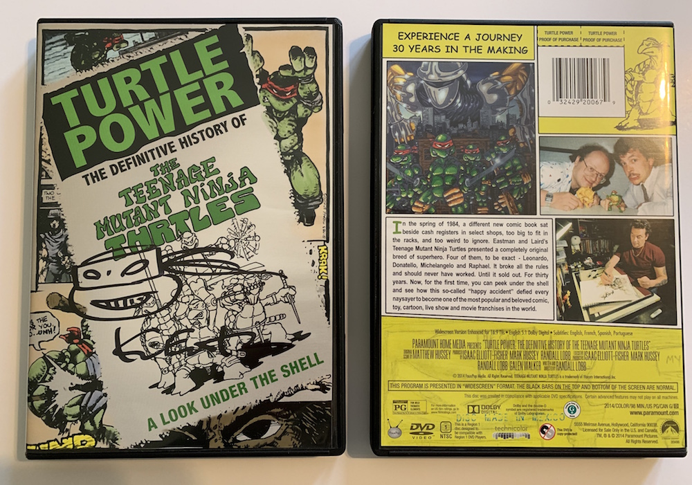 TURTLE POWER:THE DEFINITIVE HISTORY OF THE TMNT - SIGNED DVD