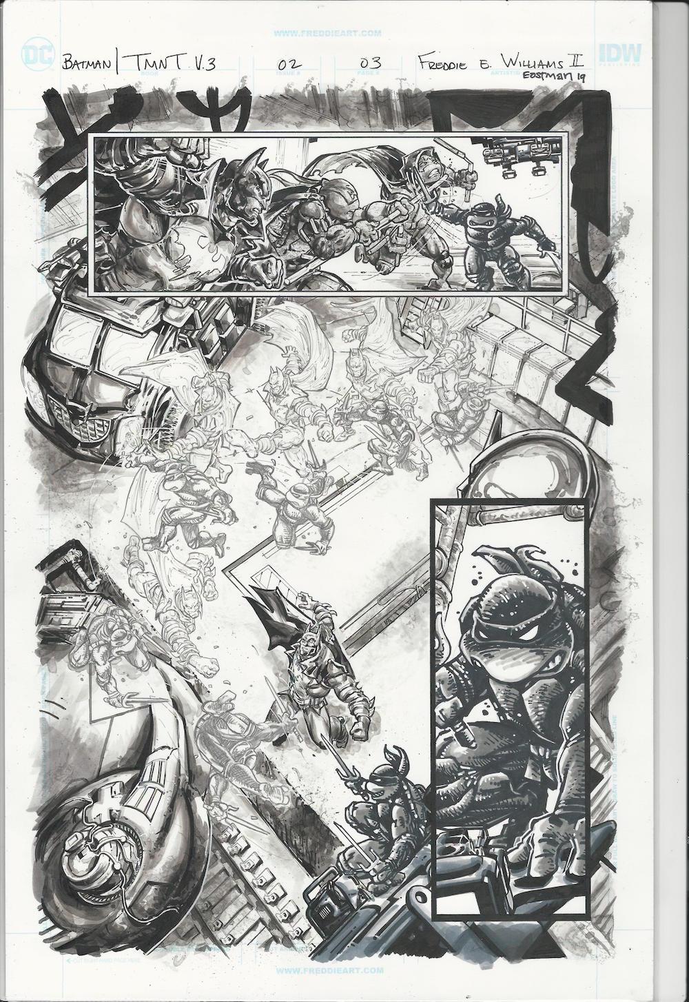 Batman TMNT Art for Sale - Freddie Williams II and me
