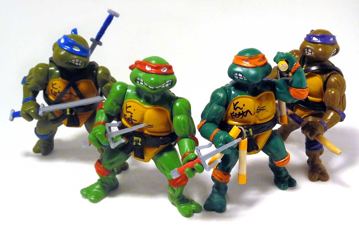 Don, Mikey, Leo and Raph
