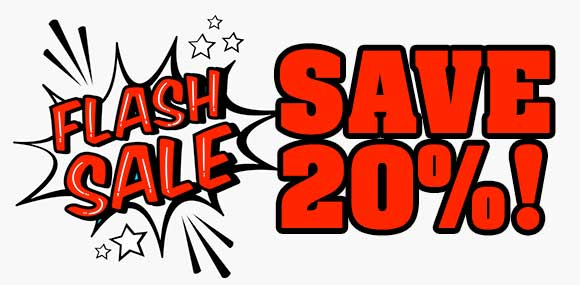 Flash Sale - 20% OFF - ENDS AT MIDNIGHT