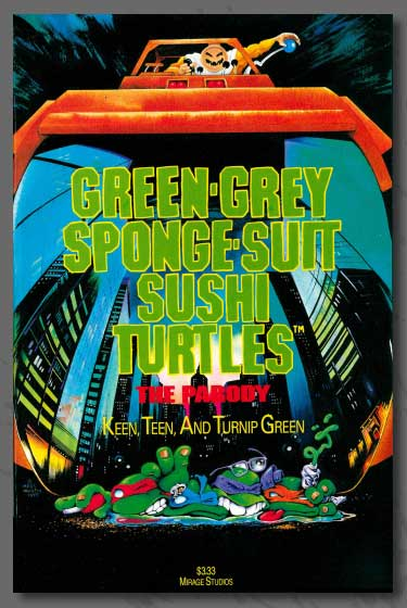 Green-Grey Sponge-Suit Sushi Turtles - A Shellebration