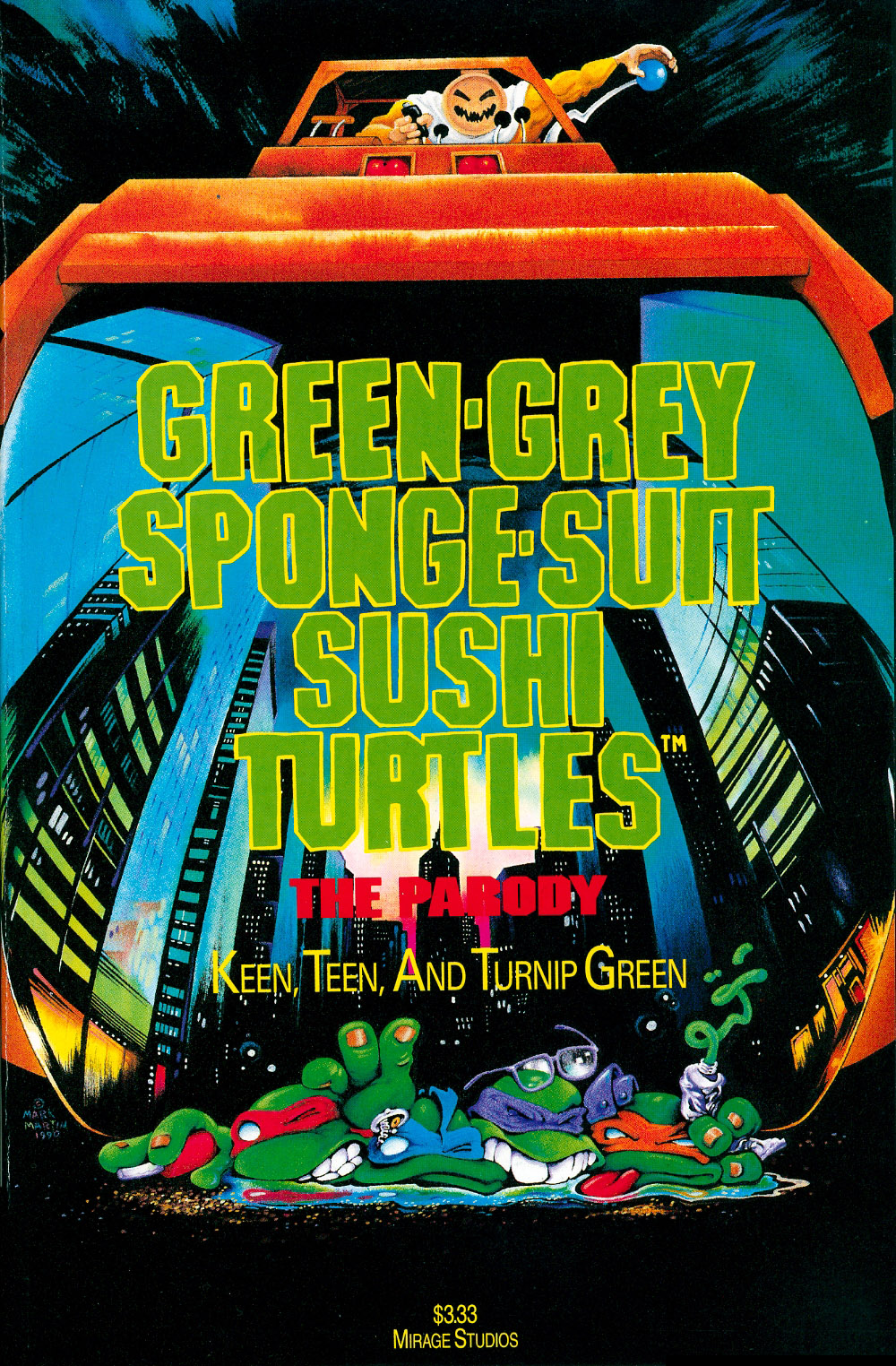 Green-Grey Sponge-Suit Sushi Turtles