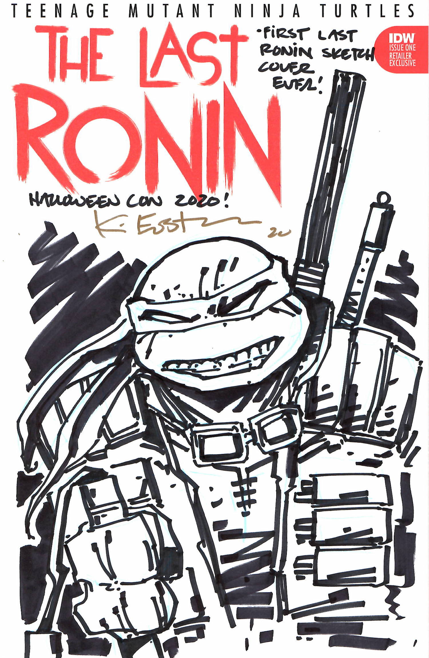 The First Ever Last Ronin Sketch Cover - October 2020 Original at Auction NOW!!!!!!!!!!!!!