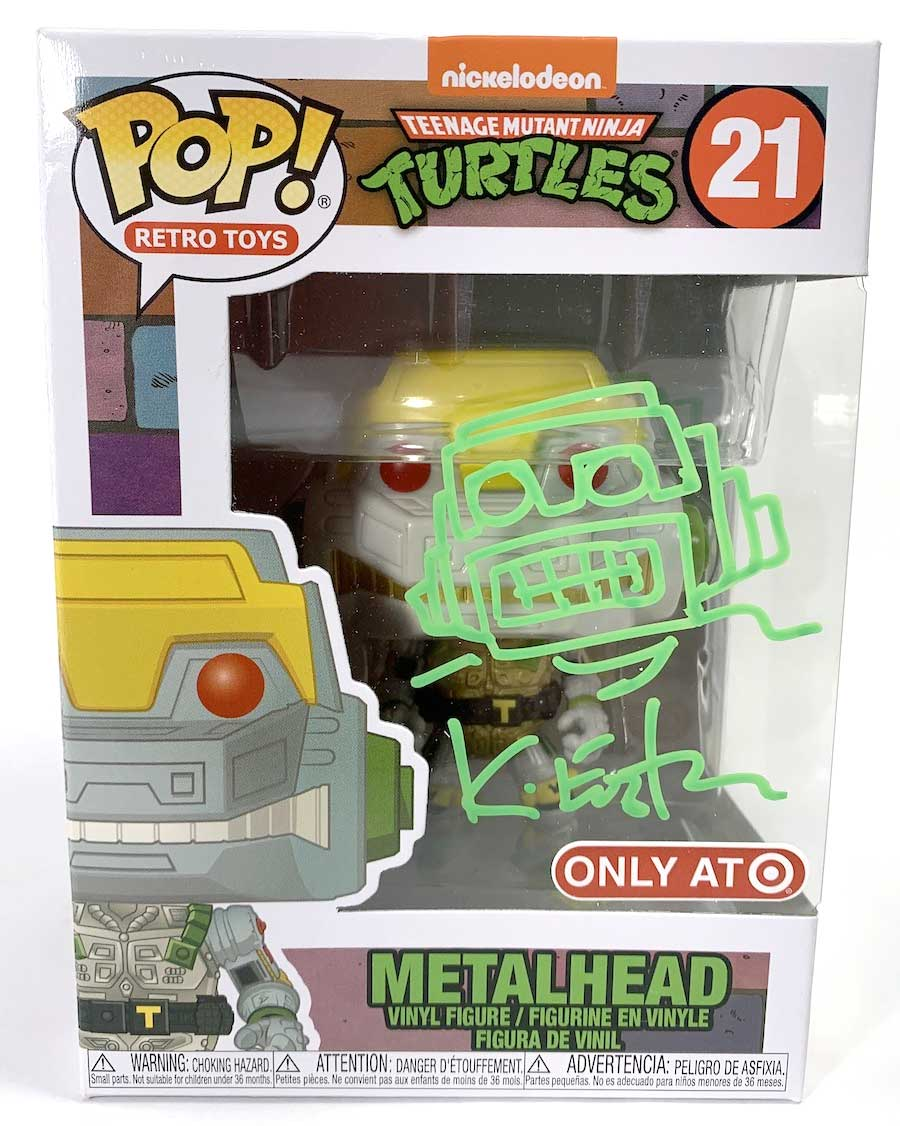 Funko Pop Teenage Mutant Ninja Turtles Exclusive Metalhead #21 w// Free Acrylic Case