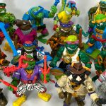 Vintage Signed TMNT Toys with Original Weapon Trees